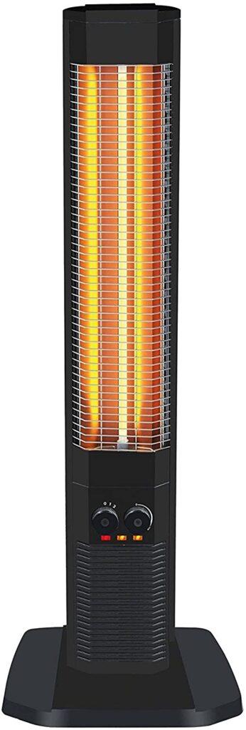 PURLINE Calefactor halógeno Vertical con Resistencia de Carbono y termostato Ajustable HEATY 1800