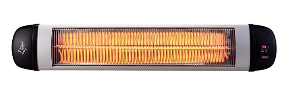 estufa electrica de infrarrojos pared